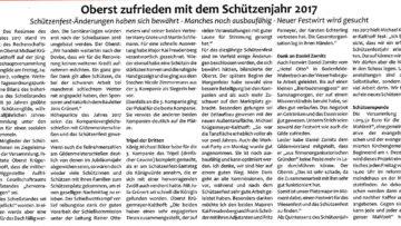 Pressebericht Generalversammlung/2 2017 (Postillon)