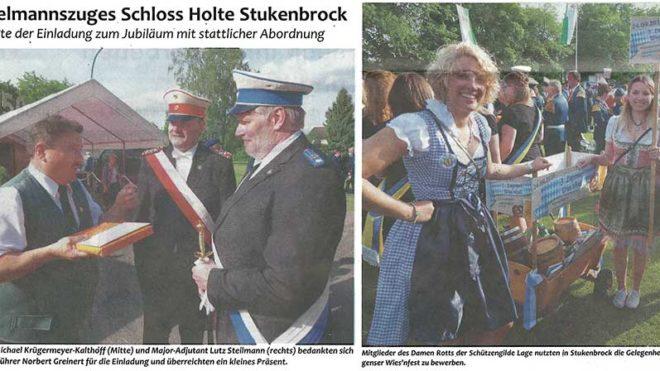 Pressebericht 50 Jahre Spielmannszug Schloss Holte Stuckenbrock (Postillon)