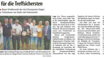 Pressebericht Kompanievergleichsschießen 2016 Pokale (LZ)