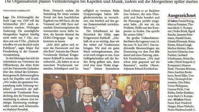 Pressebericht Generalversammlung 2016 (LZ)