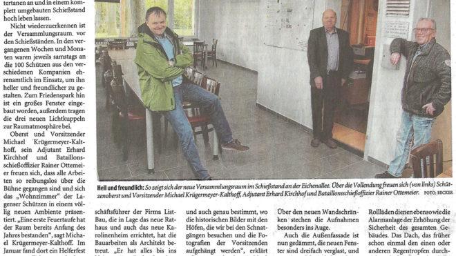 Pressebericht Umbau Schießstand (LZ)
