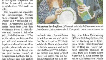 Pressebericht Gildenmeisterschaft (LZ)