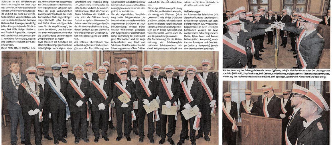 Pressebericht (Postillon) Vereidigung der Offiziere 2019