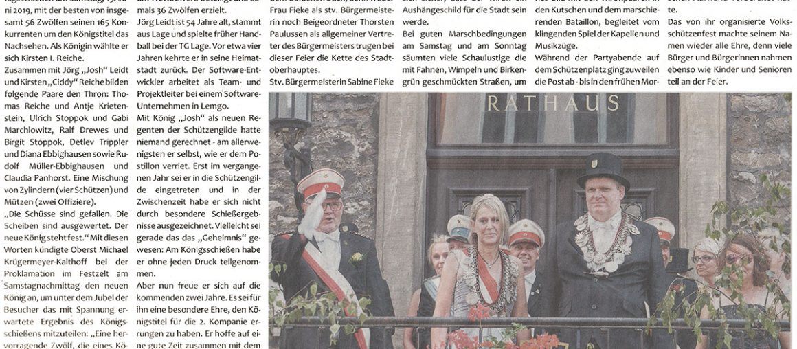 Pressebericht Postillon Schützenfest 2020
